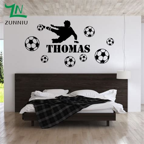 football personalise custom name wall stickers for