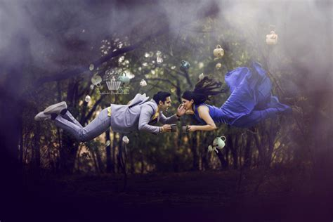 levitation love   innovative pre wedding shoot
