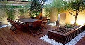 petite terrasse a lamenagement plein d39astuces deco With peinture couleur lin et gris 17 beton cire terrasse piscine sol exterieur beton