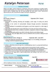 nursing resume sles 2017 resume 2017 exles