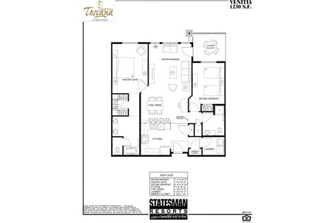 Floor Plans by 2 Bedroom Condos In Az Venitia Toscana Of