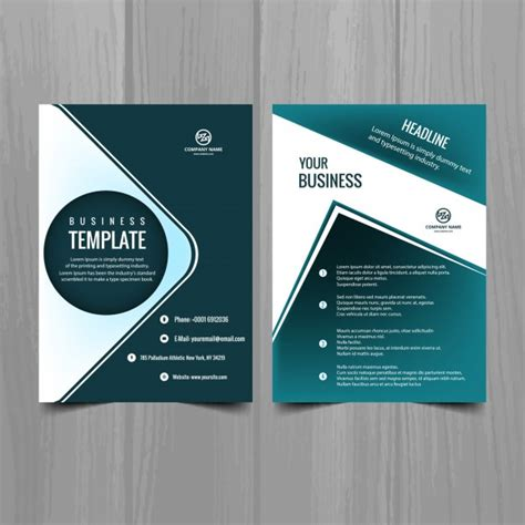 turquoise template turquoise brochure template vector free download