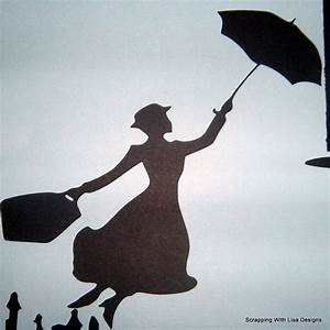 Flying Mary Poppins Silhouette - Disney | Decor - Kid ...