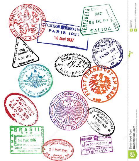 travel passport stamps vector stock vector image