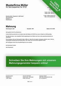 Kfz Steuer Mahnung Ohne Rechnung : mahnung muster kostenlose muster f r mahnungen ~ Themetempest.com Abrechnung