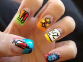Little memory about me cute nail art for girls