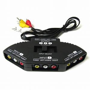 Tv Switch Box Rca 3 Input 1 Output With Composite Av Rca