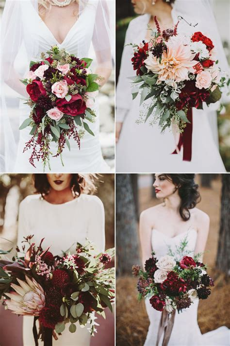 beautiful winter wedding bouquets    stunning