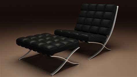 Barcelona chair are also offered with features such as extra footrests, and adjustable height. ArtStation - Vray materials study 2 ( Barcelona Chair ...