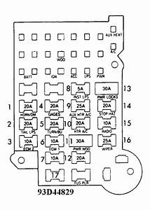 1993 Chevy Silverado 1500 Fuse Box Diagram
