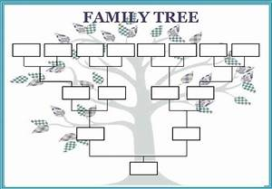best photos of large blank family tree template With blank family tree template for kids