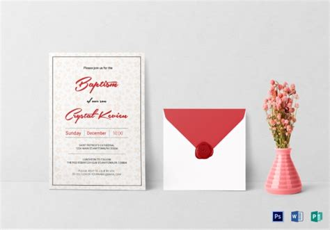10+ Best Girl Baptism Invitation Examples & Templates