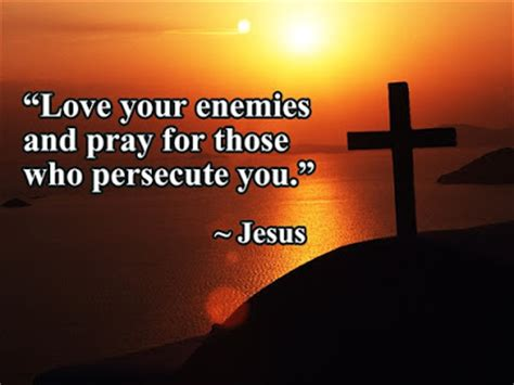 Love god and love people. WHAT JESUS SAID: LOVE YOUR ENEMY