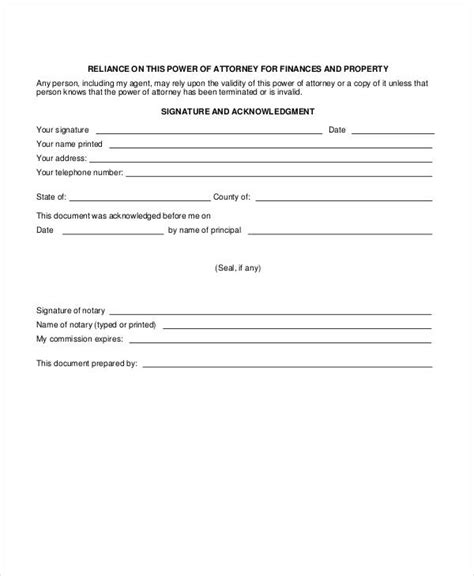 20938 financial power of attorney form 10 power of attorney forms free premium templates