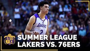 Lakers Vs 76ers Lonzo Ball Drops 36 Points While Wearing