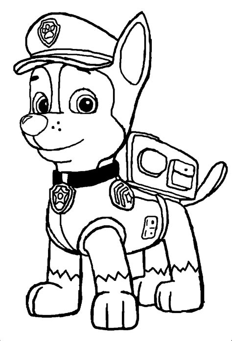 paw patrol coloring pages chase archives  coloring