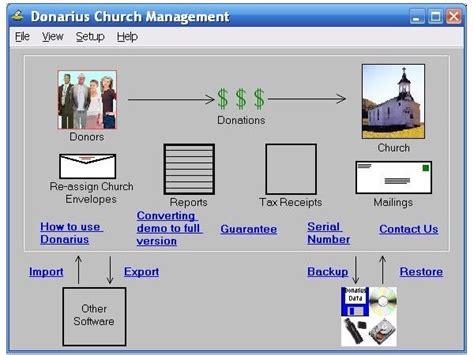 church receipt software software donarius church
