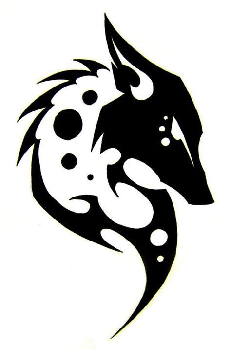 wolf vorlage wolf vorlage mit tribal look libretas decoradas