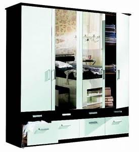 Kleiderschrank Schwarz Weiß : aduh pusink iovivo kleiderschrank time schwarz wei 5 t rig b h t ~ Orissabook.com Haus und Dekorationen