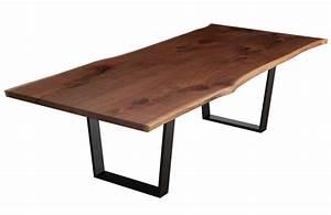 Tavolo in legno massello bordo rustico Eddison Xlab