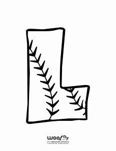 baseball alphabet letter l woo jr kids activities With baseball alphabet letters