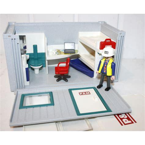 bureau de poste playmobil baraque de chantier 3260 play original