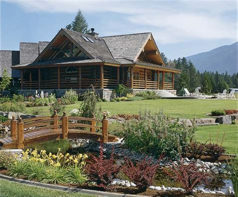 cabin landscaping ideas affordable luxury for log homes 12 ways to add luxury to your log home