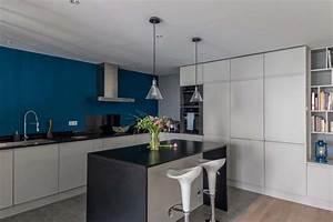1000 idees sur le theme cuisine bleu canard sur pinterest With couleur mur salon tendance 11 realisation dune bibliothaque sur mesure dans un