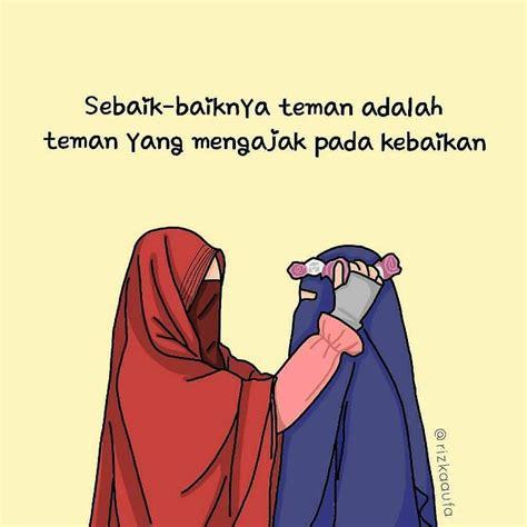 gambar kartun muslimah bercadar cantik sedih keren lengkap