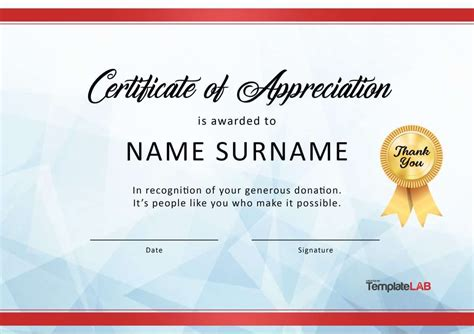 certificate  appreciation templates  letters