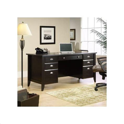 sauder shoal creek 65 executive desk sauder shoal creek executive desk jamocha wood ebay