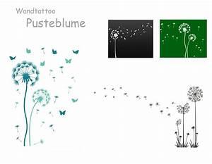 Wandtattoo Pusteblume mit Schmetterling oder Vögel