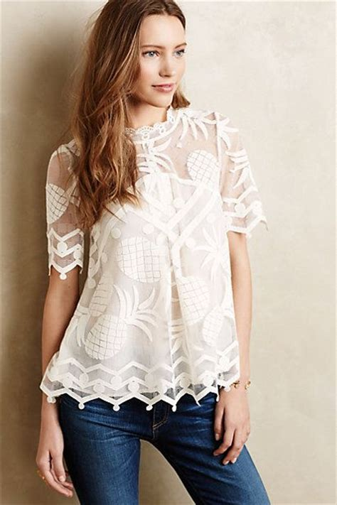 pineapple blouse pina lace top tunic blouse and so in