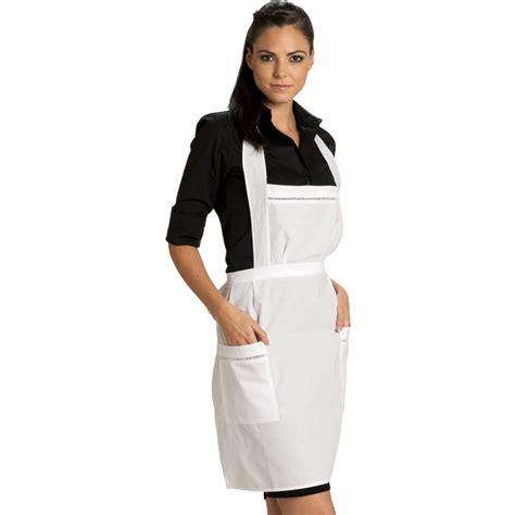 tabliers blouse et torchons de cuisine tablier à bavette broderie ajourée