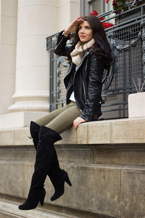 Janina T Shirt Over The Knee Boots Larisa Costea