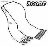 Scarf Coloring Pages Drawing Template Sketch Getdrawings Adults Templates Colorings sketch template