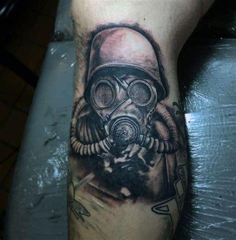 gas mask tattoo designs  men breath  fresh