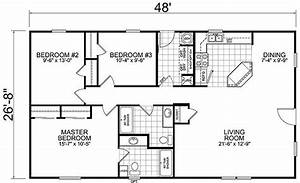 Best of house plans 3 bedroom 1 bathroom new home plans for Simple house plan with 1 bedrooms