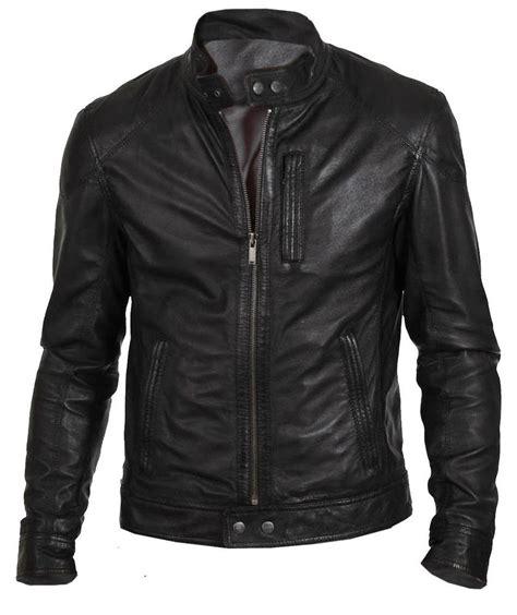 jaket bomber list l 39 s biker hunt black motorcycle leather jacket ebay