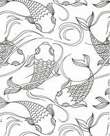 Coloring Pond Fish Pages Koi Camping Farm Animal Animals Sheets Printable Books Jan sketch template