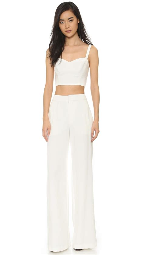 two jumpsuit black halo kalem 2 jumpsuit in white lyst