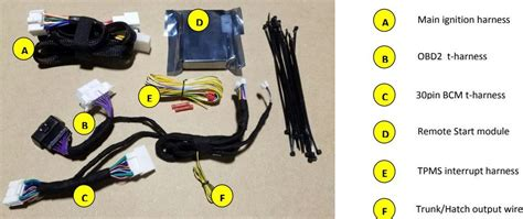 Toyota Camry Plug Play Remote Start Kit