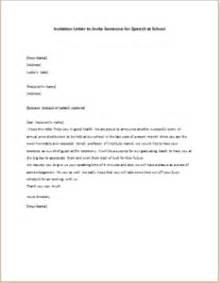 invitation letter to invite someone for speech at school
