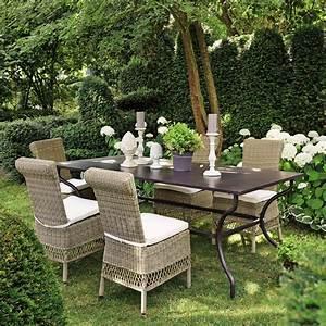 Table De Jardin Fer : table de jardin en fer forg marron 6 8 personnes l200 alpilles maisons du monde ~ Nature-et-papiers.com Idées de Décoration