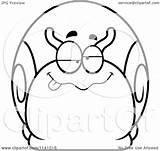 Dumb Drunk Snail Coloring Clipart Cartoon Outlined Vector Cory Thoman Pages Template sketch template