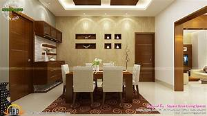 Kitchen, Dining, And, Living, Room, Kerala, Home, Design, Floor, Plans, Spacious, Interior, U2026