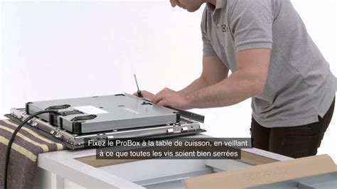 electrolux table induction installation sur plan de travail