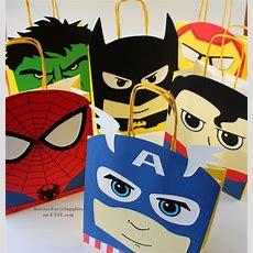 Superhero Favor Bags Superhero Birthday Party Decorations For