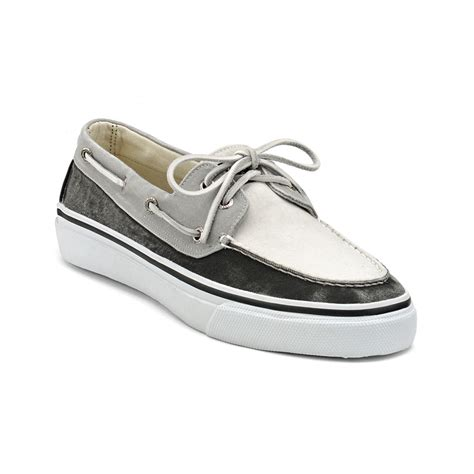 White Boat Shoes by Sperry Top Sider Bahama 2eye Boat Shoe In White For Men