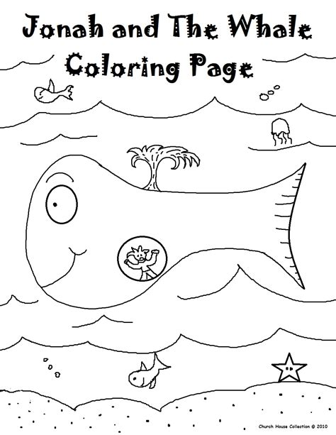 jonah   whale coloring pages